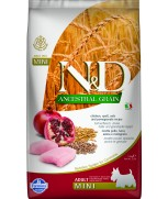 Farmina Natural & Delicious N&D Ancestral Grain Chicken & Pomegranate Adult Mini 2.5kg